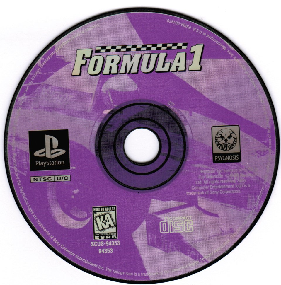 Formula 1 PS1 Playstation 1 Game