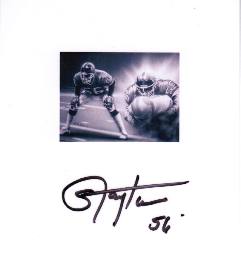 Lawrence Taylor NFL HOF Hand Signed Photograph