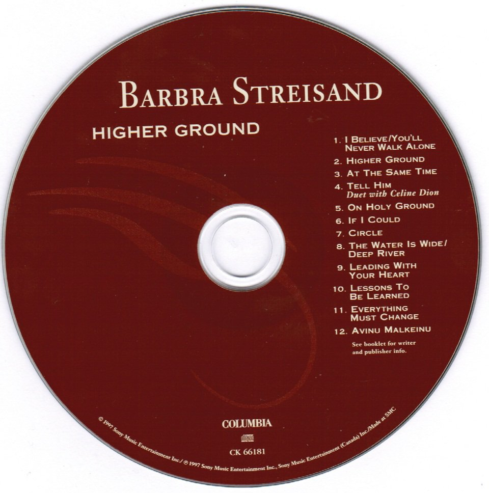 Barbra Striesand Higher Ground CD