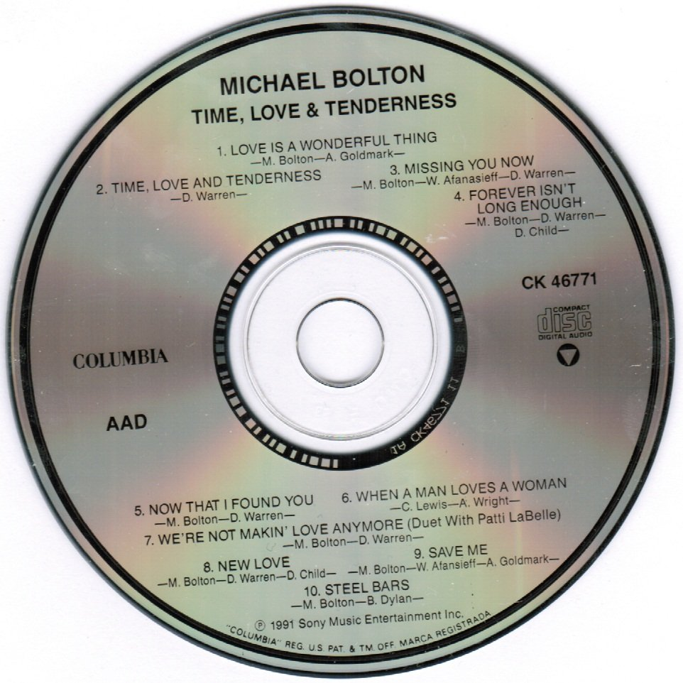 Time, Love, & Tenderness by Michael Bolton CD
