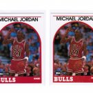 Lot of 2 1989 Hoops Michael Jordan #200 NMMT