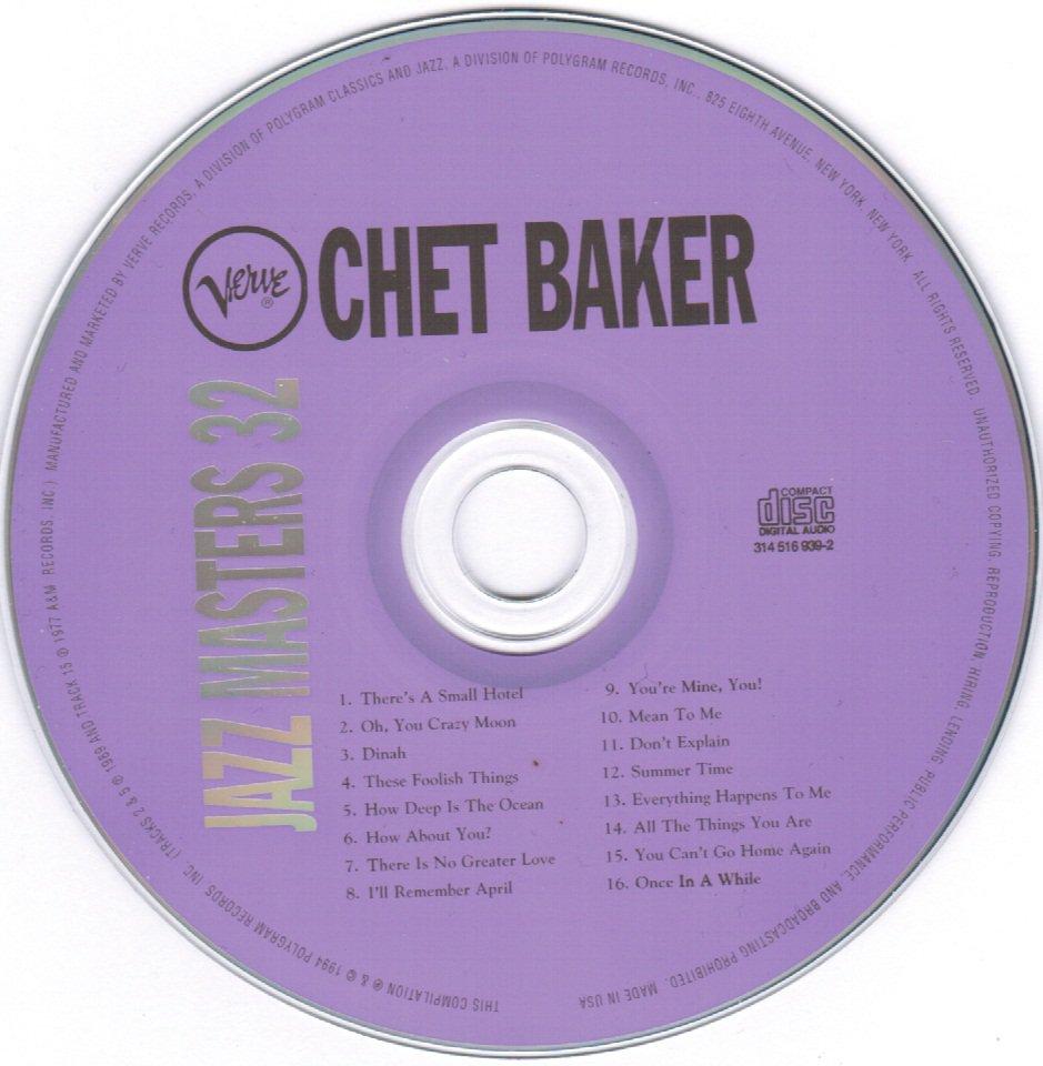 Jazz Masters 32 Chet Baker Verve CD