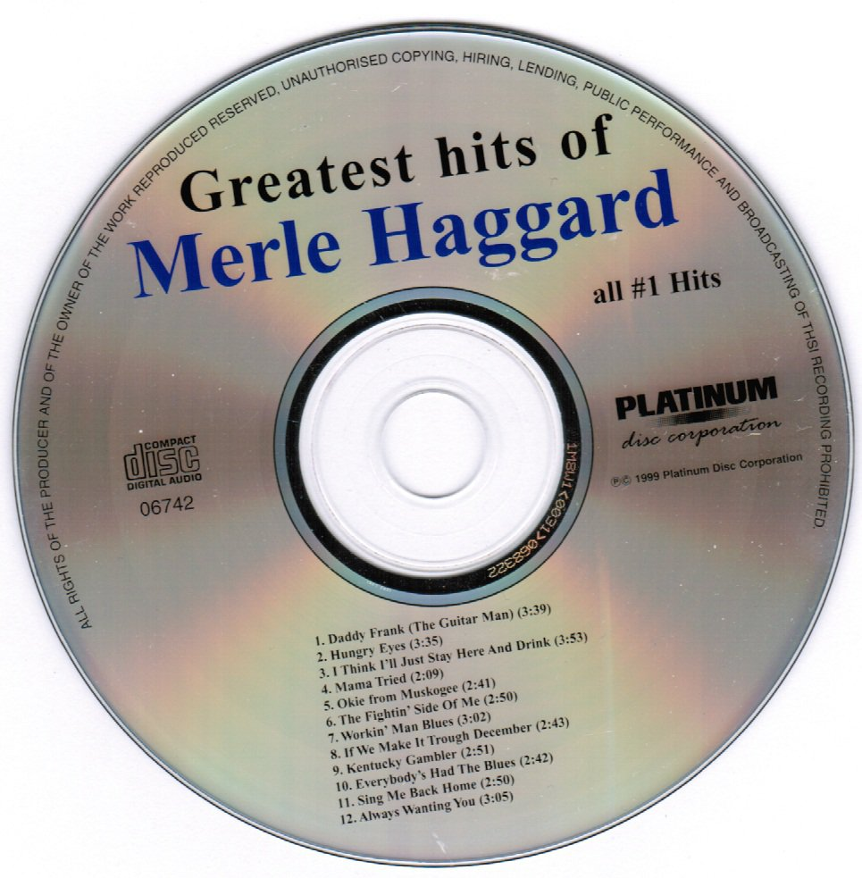 Greatest Hits of Merle Haggard CD