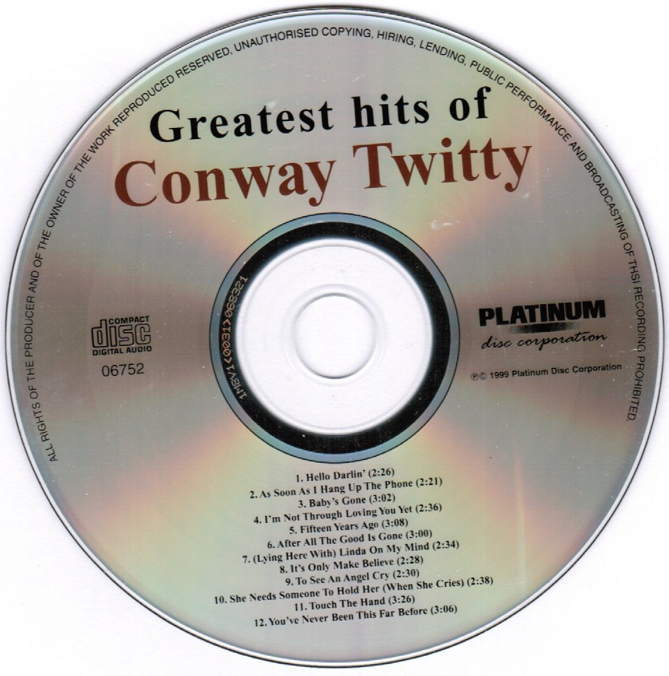Greatest Hits of Conway Twitty CD