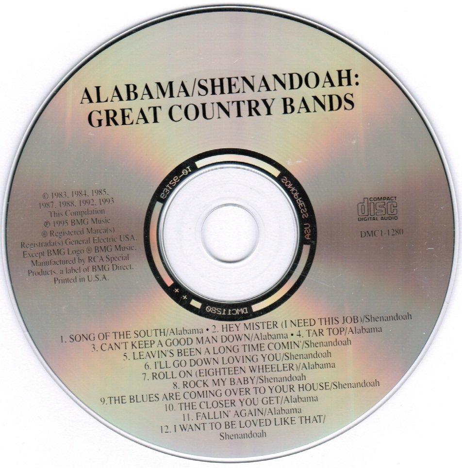 Alabama Shenandoah Great Country Bands CD