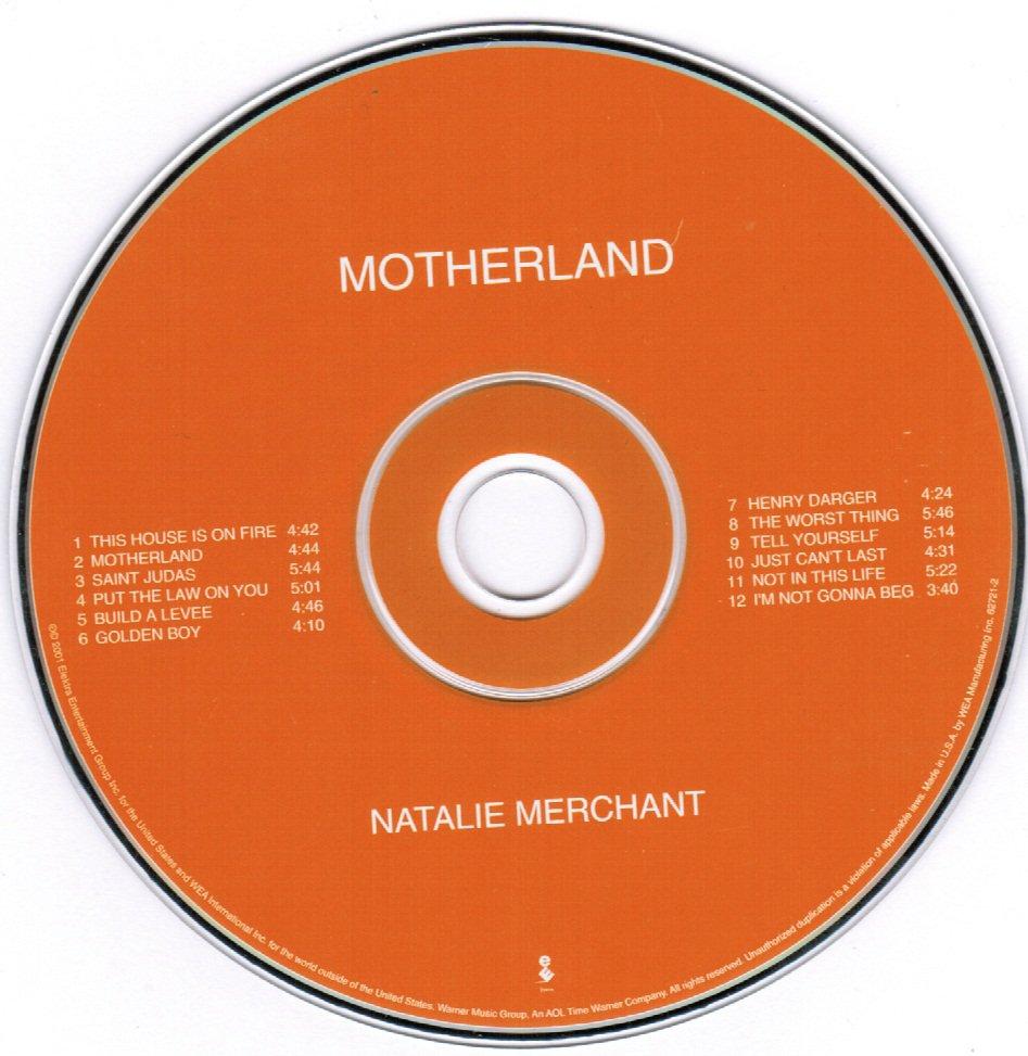 Natalie Merchant Motherland CD