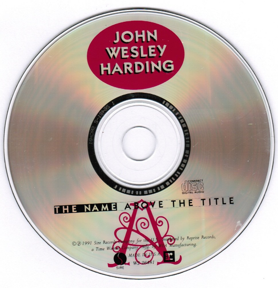 John Wesley Harding The Name Above the Title CD