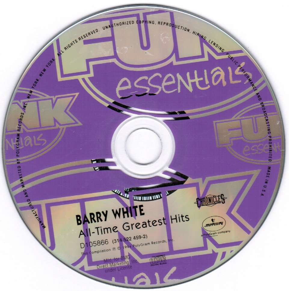Barry White All-time Greatest Hits CD
