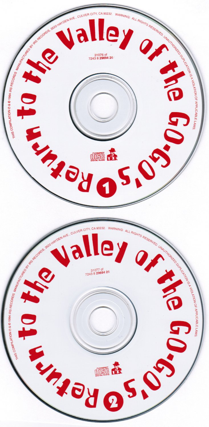 The Go-Go's Return to the Valley of the Go-Go's CD