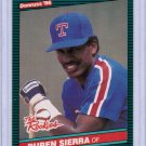 1986 Donruss The Rookies Ruben Sierra #52 Rookie NMMT