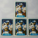 Lot of 4 1982 Fleer Jorge Bell #609 Rookie EX