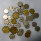 Lot of 33 Vintage Foreign Coins Mostly From 1950's