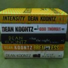 Lot of 5 Dean Koontz Hardcovers Intensity Odd Thomas Breathless False Memory