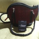 Saraye Original Tatami Style Hand Bag Crafted Maroon Textured Purse