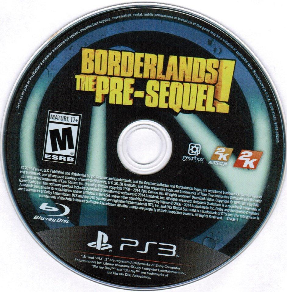 Borderlands The Pre-Sequel PS3 Playstation 3