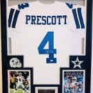 DAK PRESCOTT AUTOGRAPHED JERSEY FRAME AND PHOTOS INCLUDED