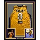 KOBE BRYANT AUTOGRAPHED JERSEY FRAME AND PHOTOS INCLUDED
