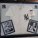 MICKEY MANTLE AUTOGRAPHED JERSEY FRAMED