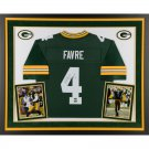 BRETT FAVRE FRAMED AUTOGRAPH JERSEY GREEN BAY PACKERS