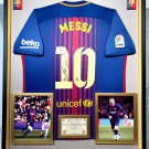 LIONEL MESSI FRAMED AUTOGRAPH JERSEY