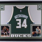 GIANNIS ANTETOKOUNMPO FRAMED AUTOGRAPH JERSEY