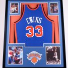 PATRICK EWING FRAMED AUTOGRAPH JERSEY NEW YORK KNICKS