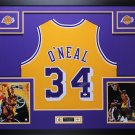 SHAQUILLE O`NEAL FRAMED AUTOGRAPH JERSEY LAKERS