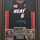 LEBRON JAMES AUTOGRAPHED JERSEY FRAMED MIAMI HEAT