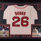 WADE BOGGS AUTOGRAPHED FRAMED JERSEY BOSTON RED SOX