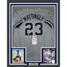 DON MATTINGLY AUTOGRAPHED FRAMED JERSEY NEW YORK YANKEES