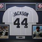 REGGIE JACKSON AUTOGRAPHED FRAMED JERSEY NEW YORK YANKEES