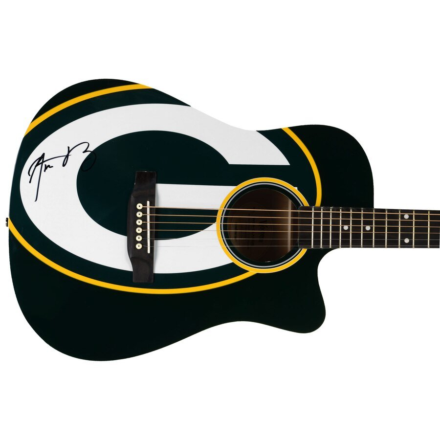 AARON RODGERS AUTOGRAPHED GUITAR LIMITED EDITION #1 OF 5