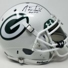 AARON RODGERS AUTOGRAPHED WHITE HYDRO DIPPED HELMET FULL SIZE