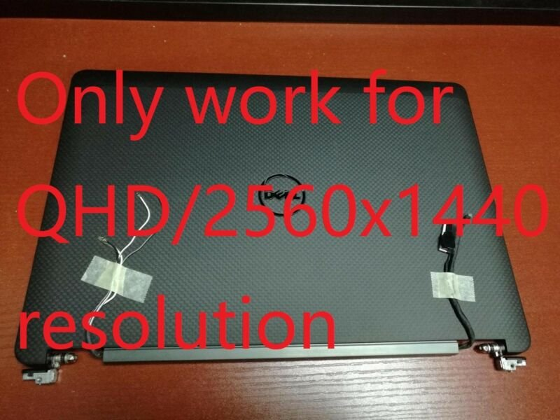 """NEW Dell Latitude E7470 14"""" QHD Touchscreen LCD Screen Display Complete Assembly"""