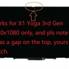 """14"""" FHD LCD LED Screen Touch Assembly For ThinkPad X1 Yoga 3rd Gen 01YT242"""