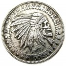 US Hobo 1921 Morgan Dollar skull zombie skeleton Silver Plated Copy Coins