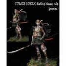 1:20 90mm Resin Figure Kit Model Role Female Samurai warriors Japanese Unpainted