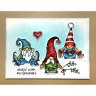Clear Stamps Christmas Santa Gnome Elves Stamp DIY scrapbooking Cards Crafts New