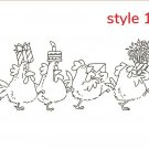 Funny Chickens Teamwork Metal Cutting Dies DIY Clear Rubber Stamp Scrapbooking