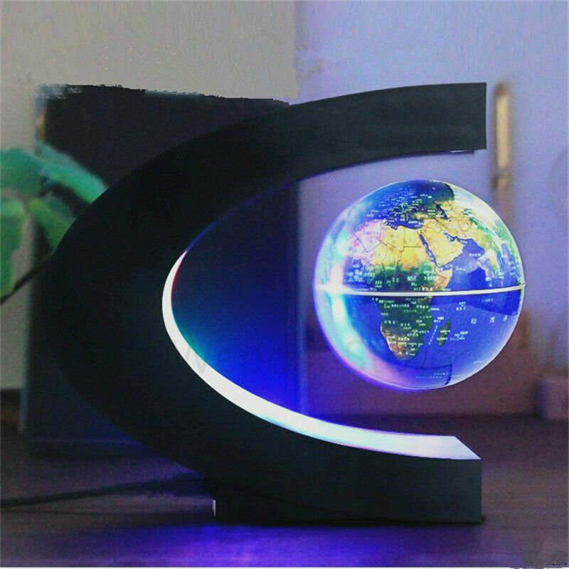 Cool Magnetic Levitation Globe Night Light Novelty For Xmas Globe Map Lamp