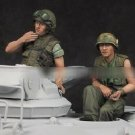 1/35 Resin Figure Model Kit Vietnam War US Tankers 2 Figures Unpainted (No Tank)