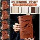 Cherish Words For My Son/Daughter My Man/Wife Engraved Leather Journal Notebook