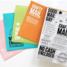 GOOD MAIL DAY STAMPS Transparent Stamps For DIY Scrapbooking Photo Album Decorative Embossing