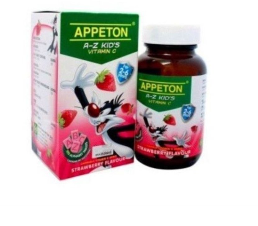 2 x Appeton A-Z Kid'S Vitamin C 30MG 100'S Chewable Tablet- Strawberry Flavor