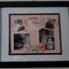 Custom Memory Page Matted and Framed