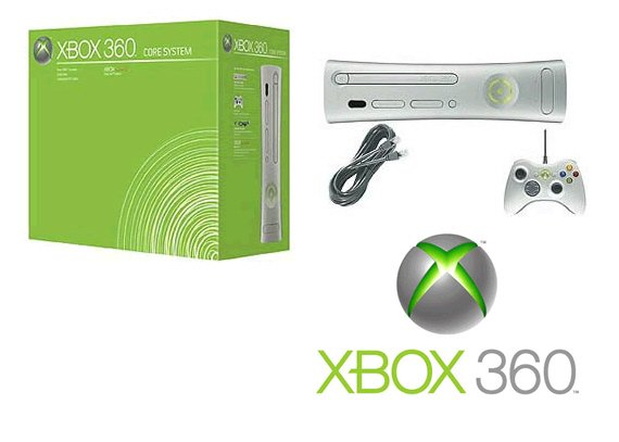 Xbox 360 Core Console Video Game System MSRP $799.99