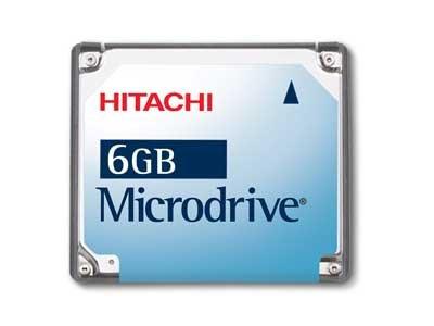 Hitachi Microdrive 6GB Digital Media Hard Disk Drive