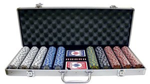 600PC 9GRAM DOGGIE CLAY POKER CHIP SET WITH ALUMINUM CASE