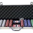 600PC 11.5 GRAM DICE POKER CHIP SET WITH ALUMINUM CASE