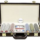 300PC 9GRAM PRO LAS VEGAS CLAY POKER CHIP SET WITH DELUXE GENIUNE LEATHER CASE